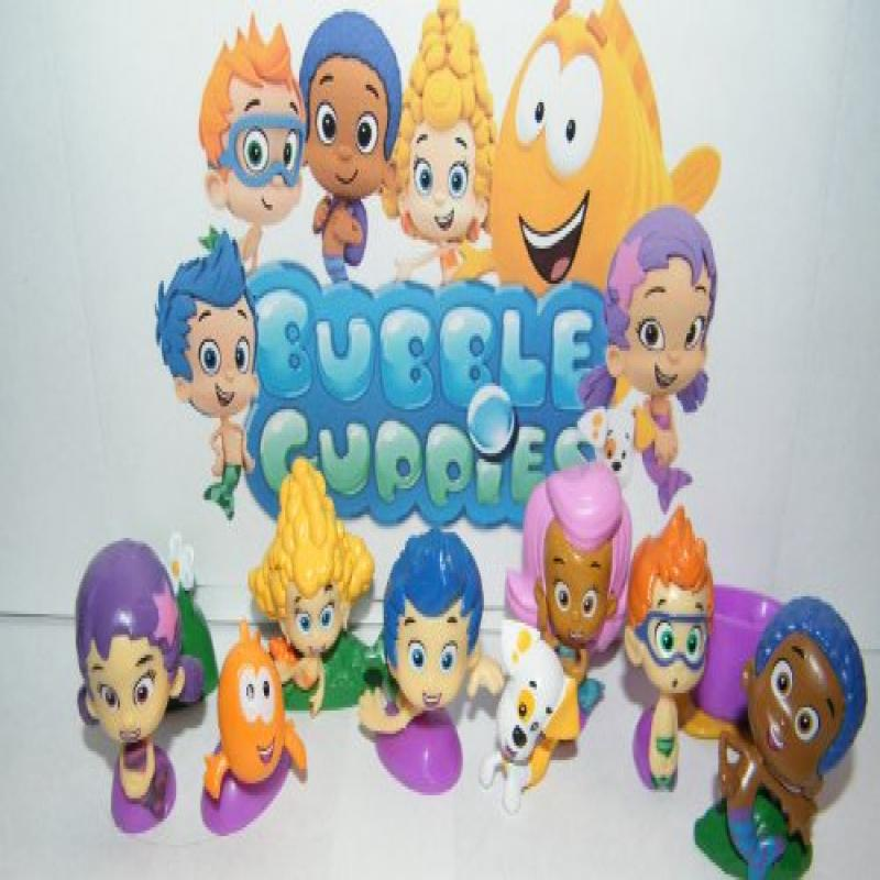 Nickelodeon Bubble Guppies Deluxe Figure Set Toy Playset of 12 with Gil, Molly, Bubble... by