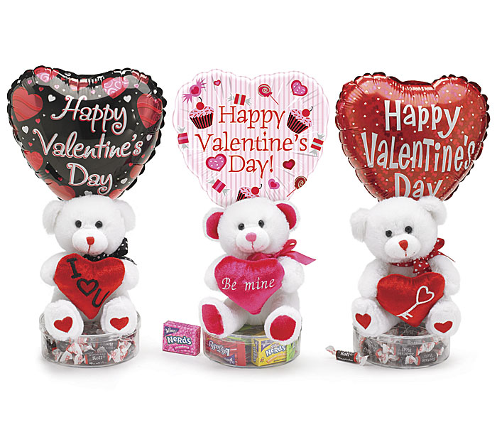 Teddy Bear Hugs Valentine Gift Basket