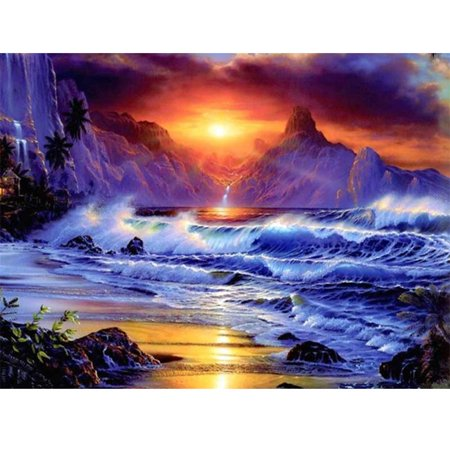 5D Diamond Painting Embroidery Landscape Sun Setting Cross Crafts DIY Kit