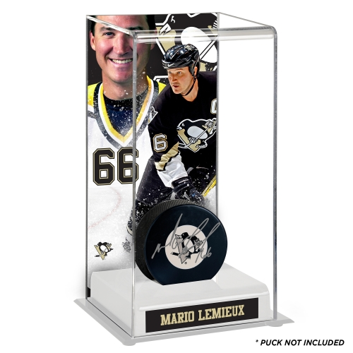 Mario Lemieux Pittsburgh Penguins Fanatics Authentic Deluxe Tall Hockey Puck Case - No Size