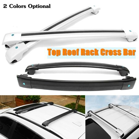 For Jeep Cherokee 2014 2015 2016 2017 Black Silver Color Top Roof Rack Cross Bar Luggage Carrier Key Lock -  Genenric, LK-RE302