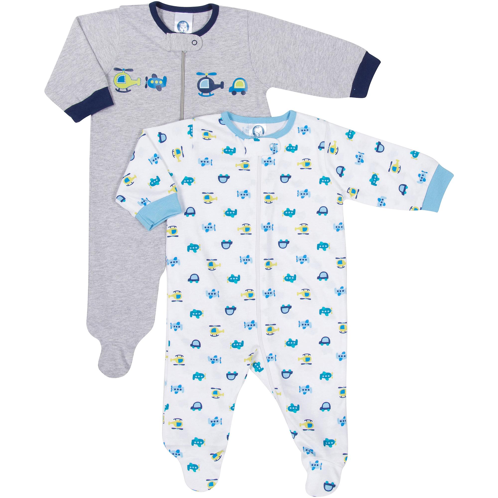 Gerber Newborn Baby Boy Sleep n' Play, 2-Pack