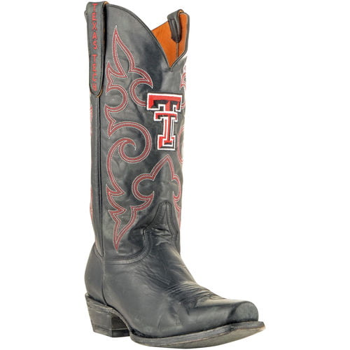 "Men's Black Texas Tech Red Raiders 13"" Boardroom Embroidered Boots by GameDay Boots"
