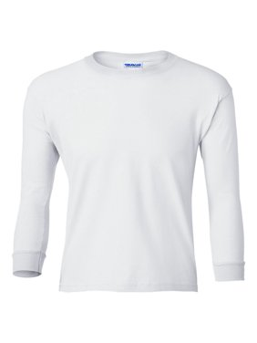 Gildan - Pink Girls - Ultra Cotton Youth Long Sleeve T-Shirt