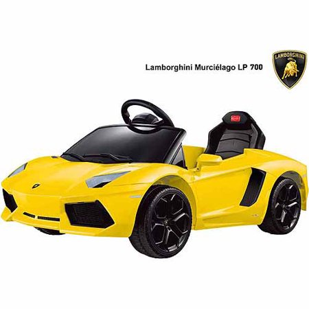 Rastar Lamborghini Aventador Lp700 4 6 Volt Battery Powered Ride On  Yellow