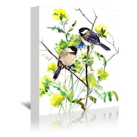 Americanflat  'Chickadees' Gallery Wrapped Canvas