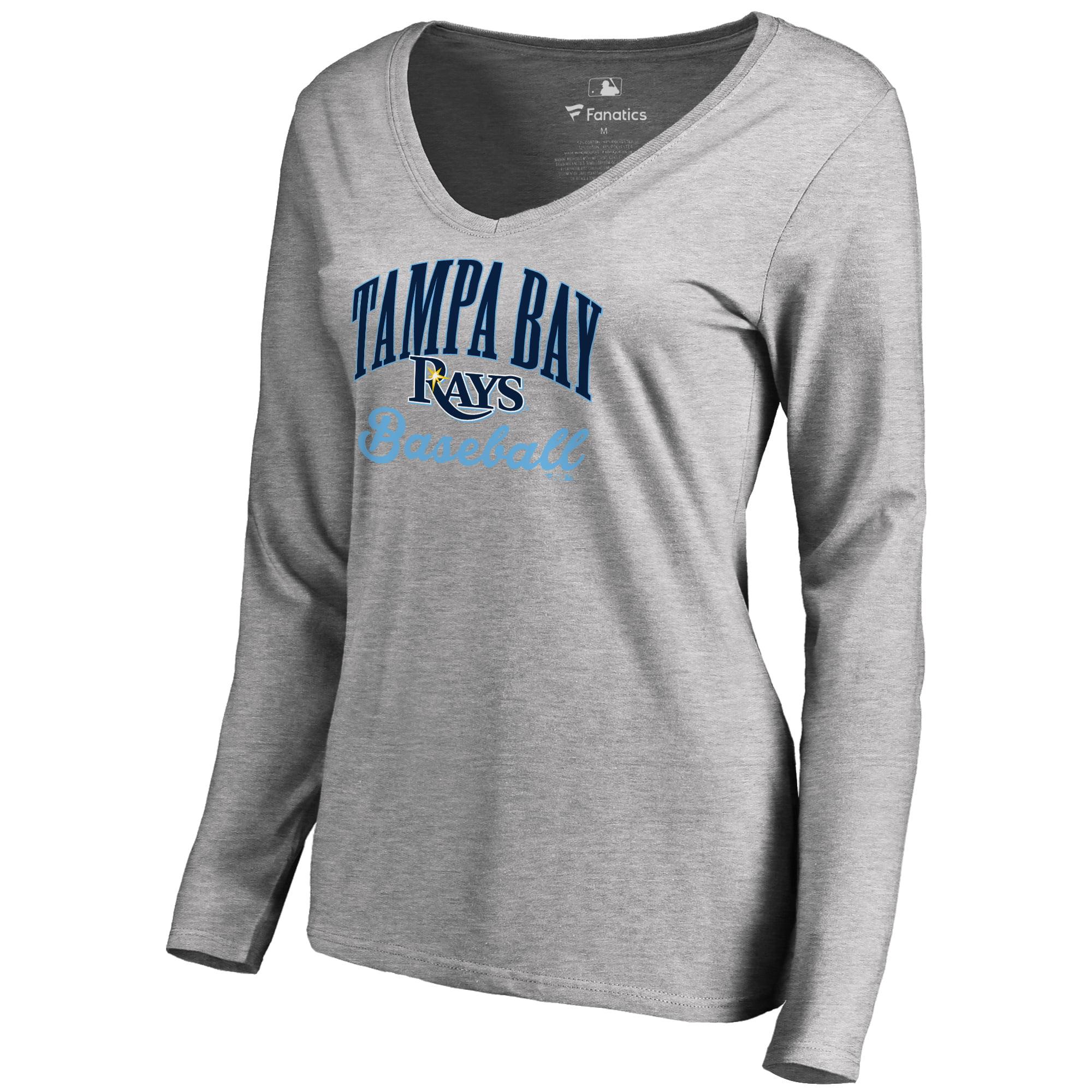Tampa Bay Rays Women's Victory Script Long Sleeve T-Shirt - Ash