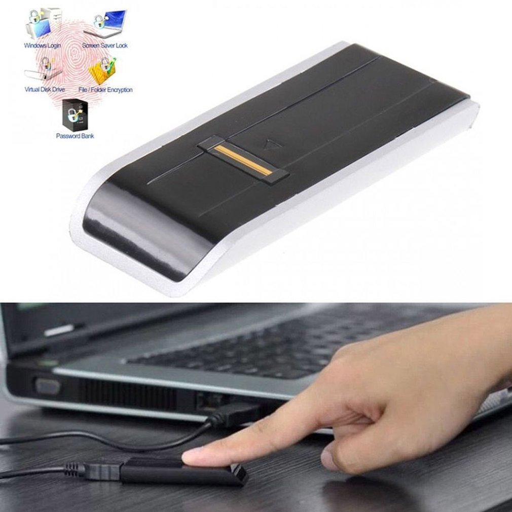 USB Password Lock Security Biometric Fingerprint Scanner Reader Portable Safety Analyzer Universal for PC Laptop