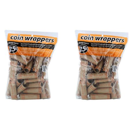 Preformed Coin Wrappers: Quarters (Pack of 72)