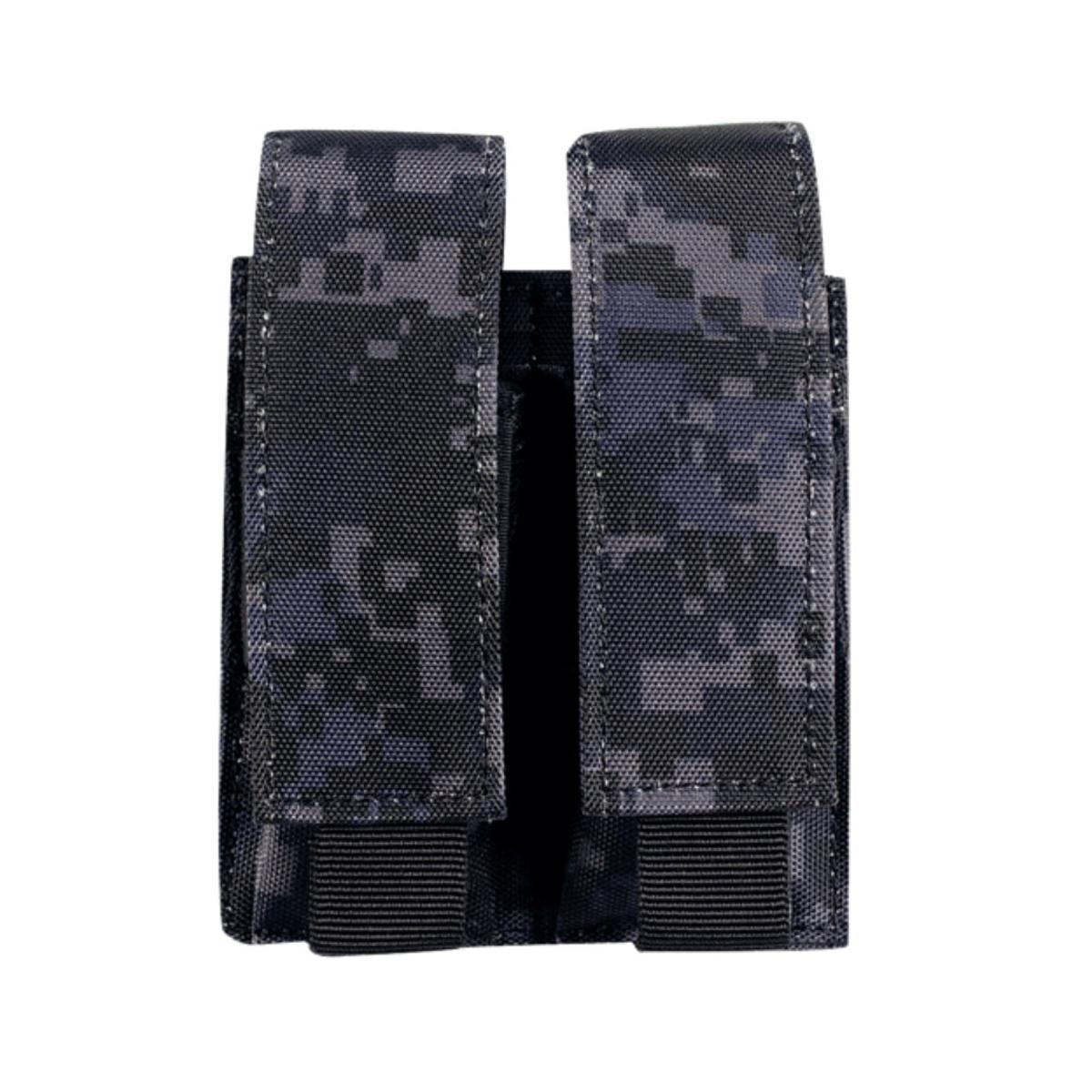 Voodoo Tactical Black Double Pistol Magazine Pouch Bag MOLLE PALS NEW NWT