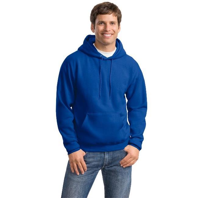 1 Deep Royal Hanes P170 Mens EcoSmart Hooded Sweatshirt 2XL 1 Black