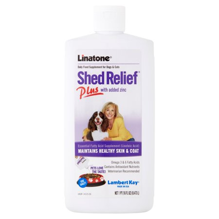 - Lambert Kay Linatone Shed Relief Plus for Dogs & Cats, 16 oz.