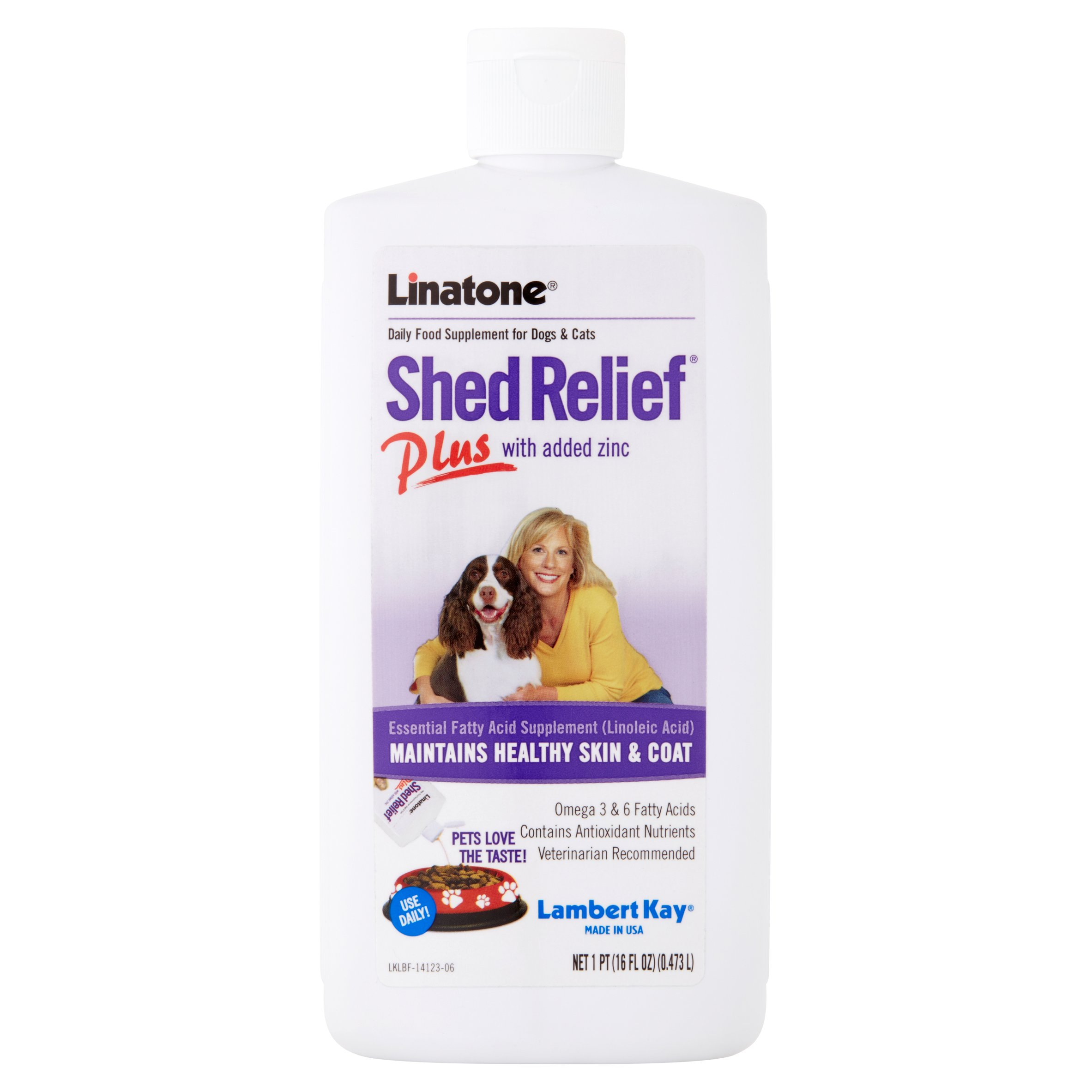Lambert Kay Linatone Shed Relief Plus for Dogs & Cats, 16 oz.