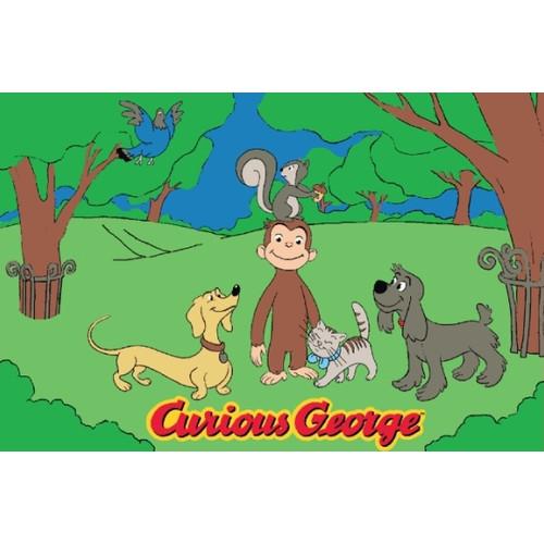 "Fun Rugs Curious George & Friends 19"" x 29"" Rug"
