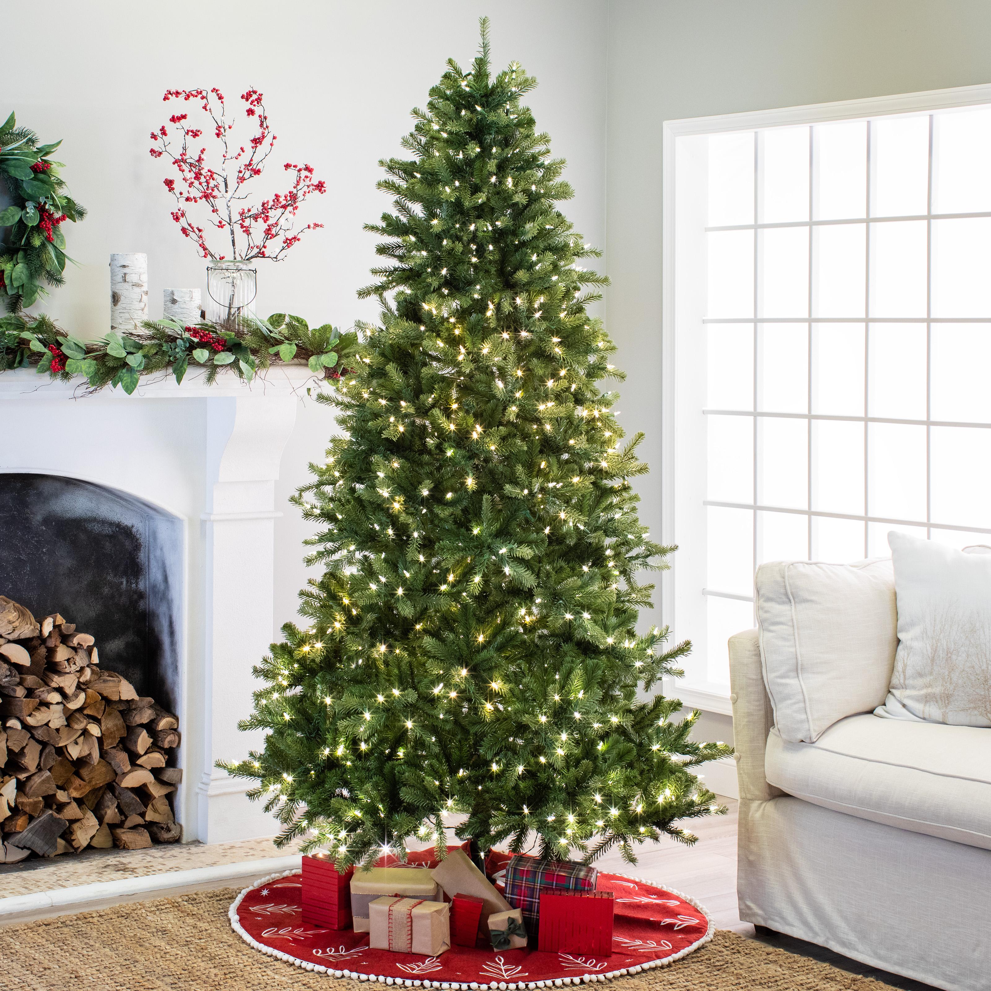 Belham Living 7.5ft Pre-Lit Newport Fir Artificial Christmas Tree with 800 LED Clear Lights - Green