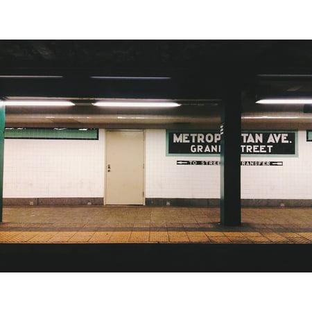 Canvas Print Subway Urban Transportation NYC Station Stretched Canvas 10 x 14