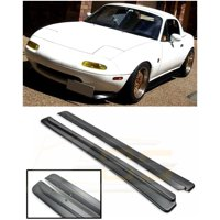 Replacement for 1990-1997 Mazda Miata MX-5 NA | EOS JDM Feed FD Style ABS Plastic Primer Black Side Skirt Rocker Panels Extension