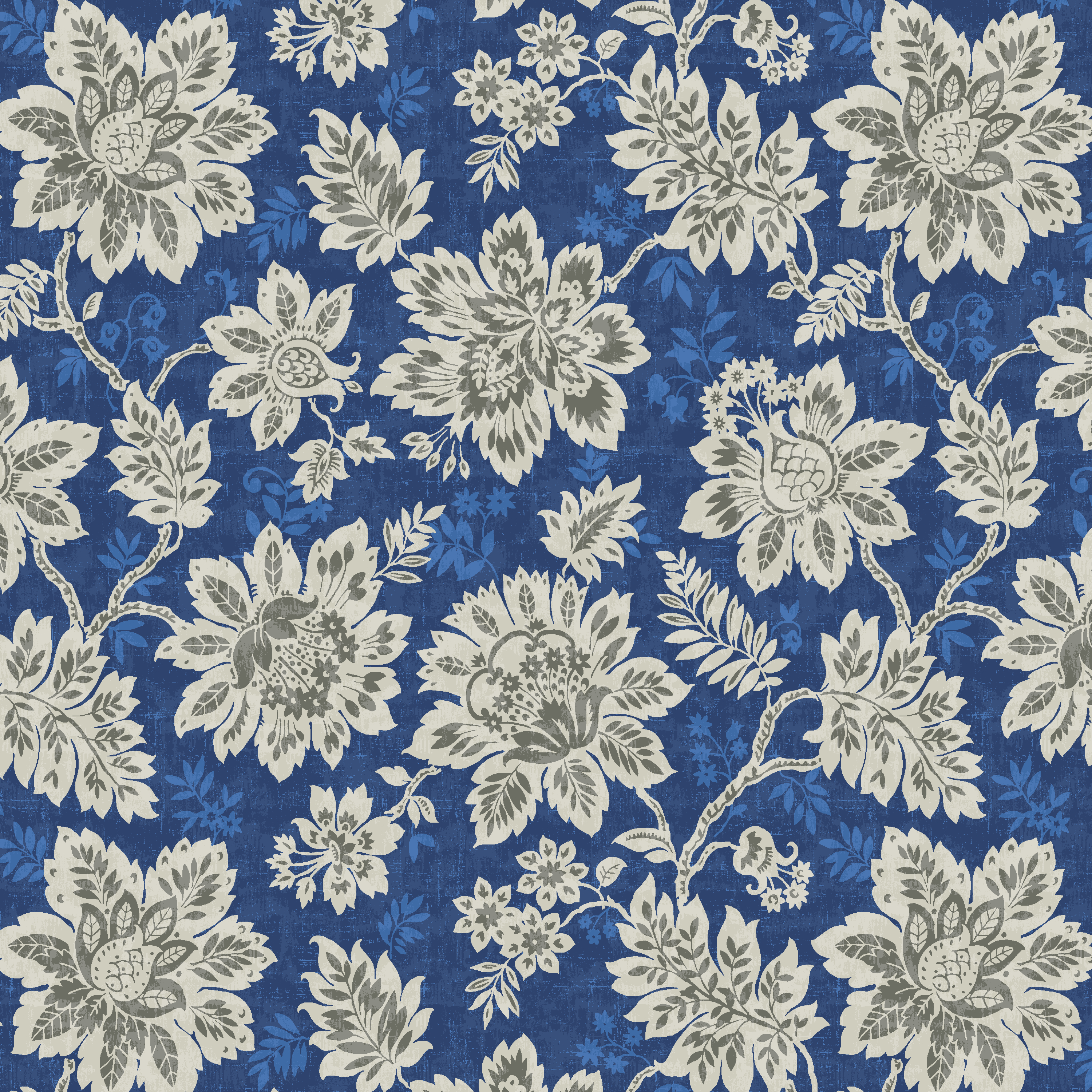 Waverly Inspirations Petal Blue 100% Cotton Duck Fabric 45'' Wide, 180 Gsm, Quilt Crafts Cut By The Yard