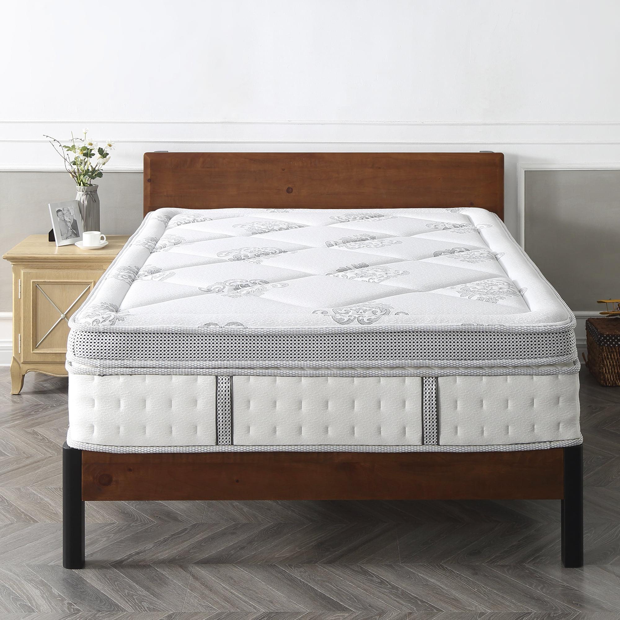 Modern Sleep Gramercy Euro-Top Cool Gel Memory Foam and Innerspring Hybrid 14-Inch Mattress, Multiple Sizes