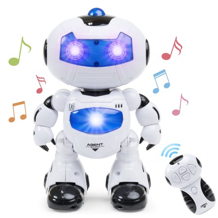 Best Choice Products Kids Electronic RC Intelligent Walking Dancing Futuristic Robot STEM Toy w/ Music, Lights - White