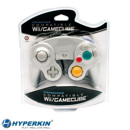Gamecube Game Controller (Nintendo Wii /GameCube CirKa Controller Silver Controller)