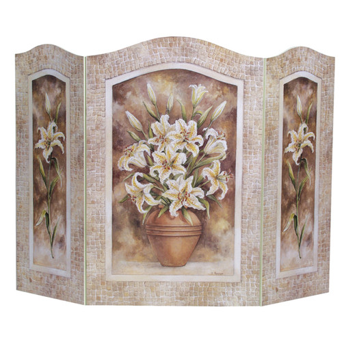 Stupell Industries Lily Flower 3 Panel Fireplace Screen