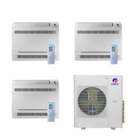 Gree MULTI36CCONS300 - 36,000 BTU Multi21+ Tri-Zone Floor Console Mini  Split Air Conditioner Heat Pump 208-230V (9-9-9)