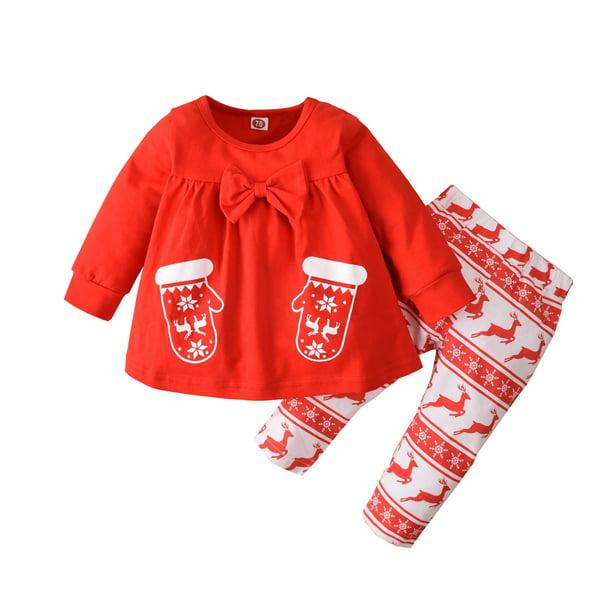 Cute Toddler Baby Girls Boys Little Deer Print Winter Warm Christmas Kids Gloves