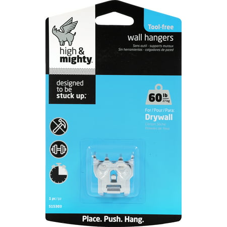 High And Mighty Tool Free 60 Lb Picture Hanger Walmartcom