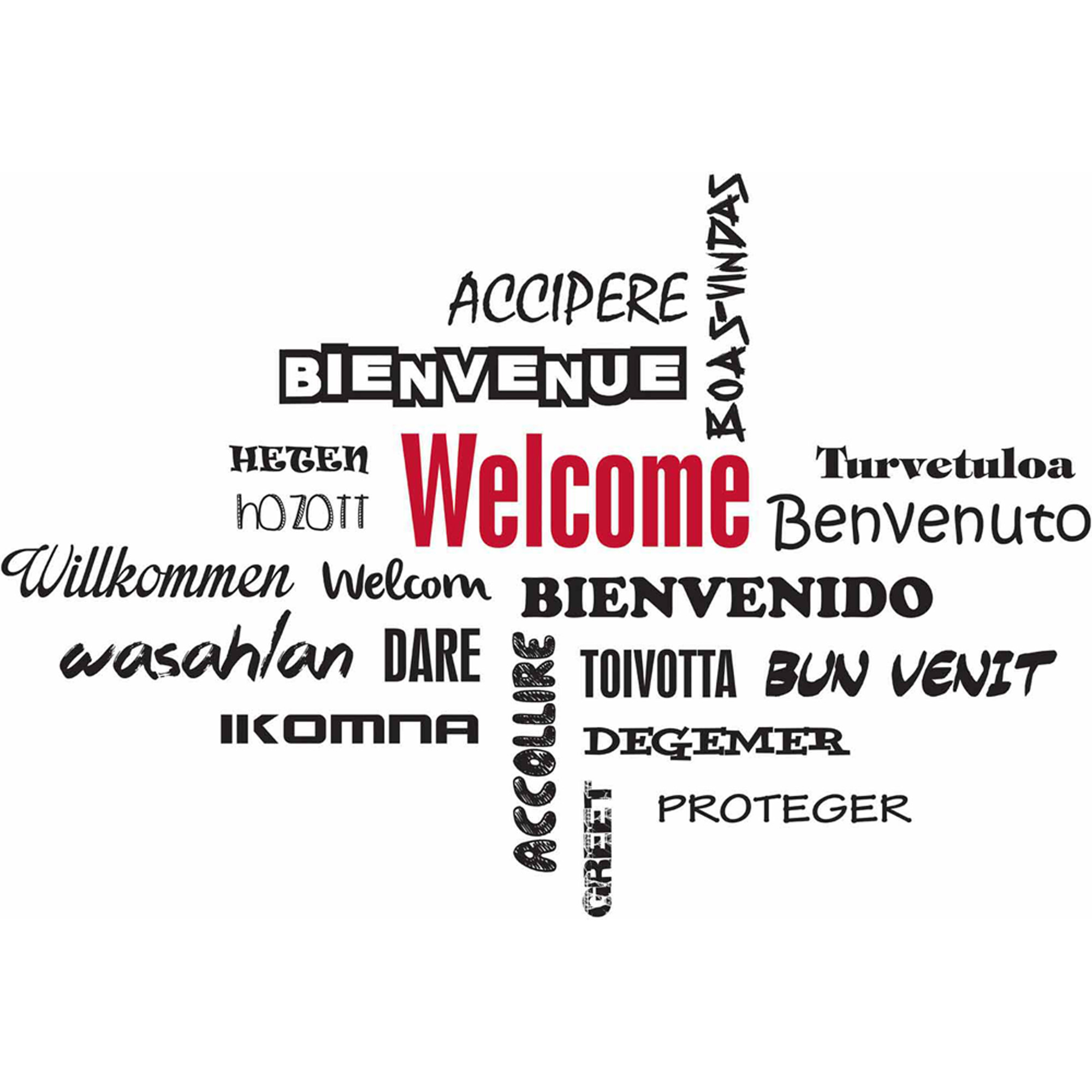 Welcome Wall Quote Stickers