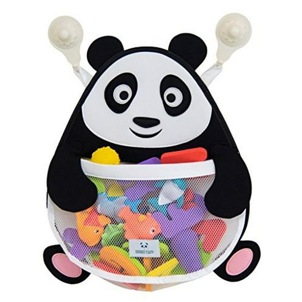 Nooni Care Panda Bath Toy Organizer Premium Mesh Bathroom Toys Storage Net Quick Dry Bath Tub Toy Holder Basket With Heavy Duty Suction Cups Walmart Com Walmart Com