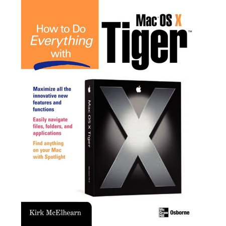 How to Do Everything: How to Do Everything with Mac OS X Tiger (Paperback) Experience the excitement of Apple's revolutionary new release with help from this hands-on guide. How to Do Everything with Mac OS X Tiger explains all the features. Learn to use the Finder to easily navigate files, folders, and applications, set up and manage user accounts, access the Internet, and print and fax documents. Digital entertainment features such as iPhoto, iMovie, and iTunes are also covered, as are easy methods for networking and security. A special two-color section called  Writers and Their Macs  profiles famous writers such as Arthur Golden (Memoirs of a Geisha) and screenwriter Mike Rich (Finding Forrester) who discuss how their Macs are integral to their creativity.
