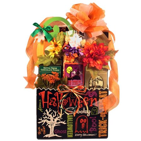 Gift Basket Drop Shipping TrOTr Trick-Or-Treat, Halloween Gift Basket - Halloween Candy Corn Fudge