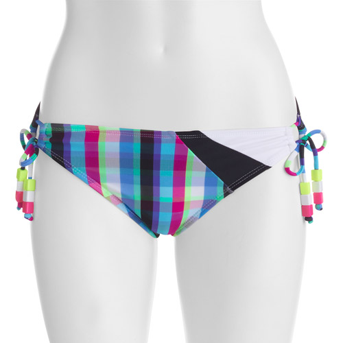 OP Juniors Plaid Side-Tie Bikini Bottom