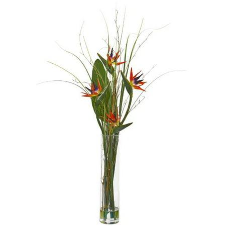Bayou Breeze Artificial Bird of Paradise Floral Arrangement in Vase