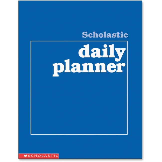 "Scholastic Grades K-6 Daily Planner - Academic - Daily, Weekly, Yearly - 8.50"" x 11"" White - Blue - Class Schedule"