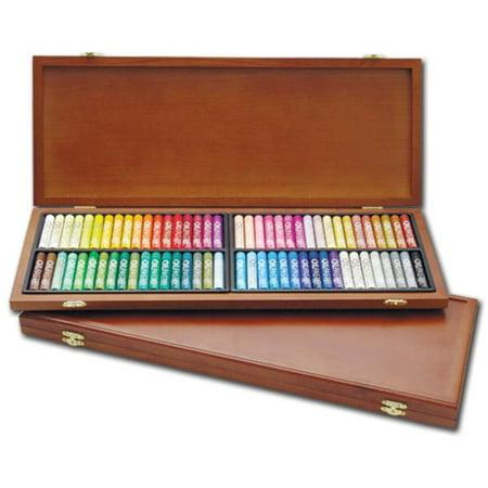 Mungyo Gallery Oil Pastels Wood Box Set of 72 Standard - Assorted - Pastel Box