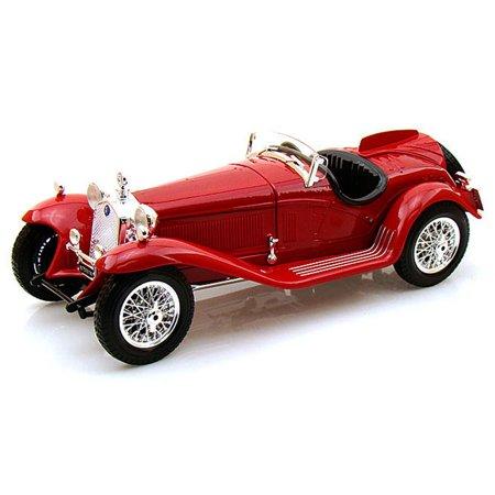 1931 Alfa Romeo 8C 2300 Spider Convertible, Red - Bburago 12063 - 1/18 scale Diecast Model Toy (2300 Spider)
