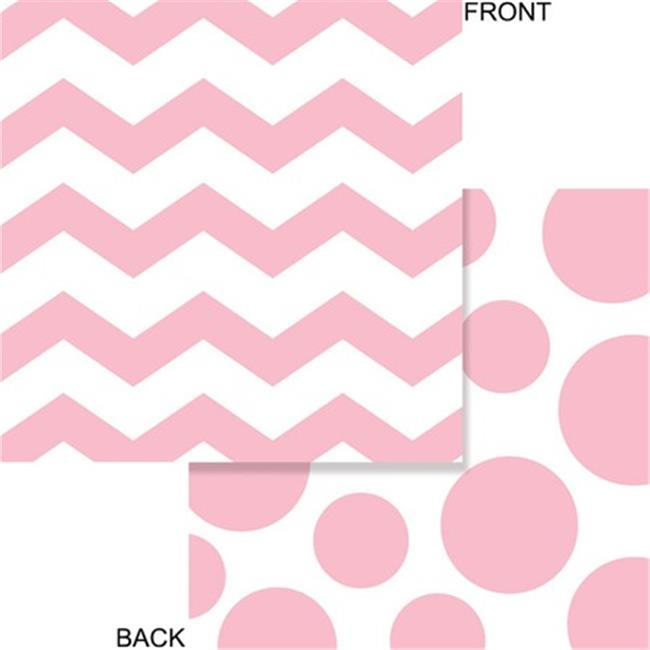 Creative Converting 663274 2-Ply Lunch Napkins, Chevron & Dots - Classic Pink - Case of 192