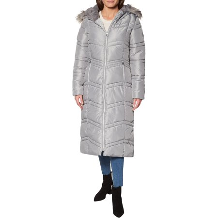 Jessica Simpson Womens Faux Fur Winter Puffer Coat
