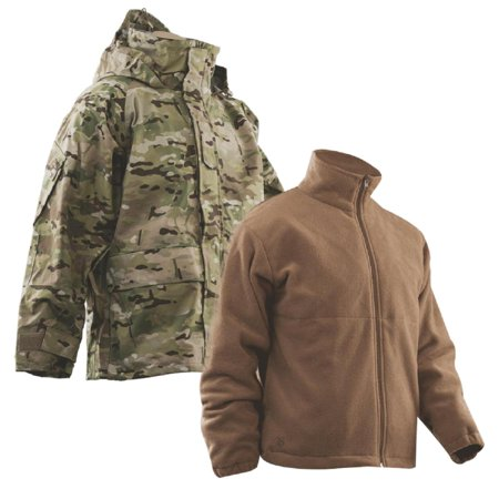 Tru-Spec H2O Proof Gen 2 ECWCS MultiCam Parka w/Coyote Brown Polar Fleece (Coyote Fleece Parka)