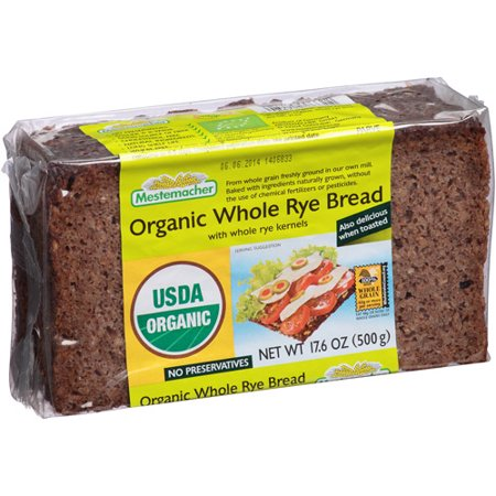 Mestemacher Bread Whole Rye, 17 6OZ (Pack of 12)