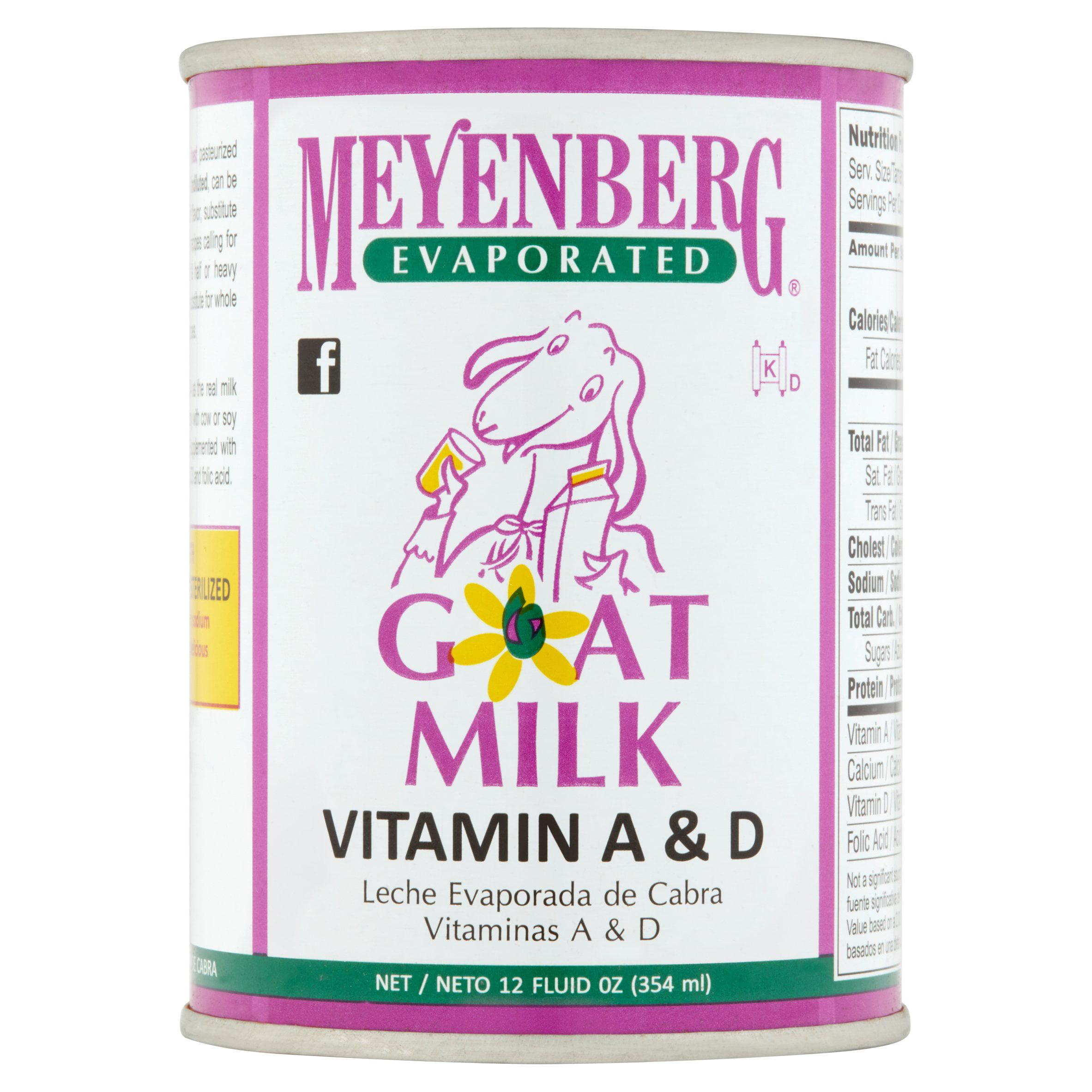 Meyenberg Evaporated Vitamin D Goat Milk, 12 fl oz by Jackson-Mitchell, Inc.