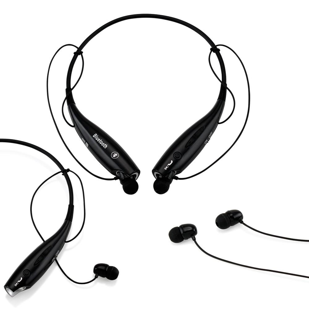 Wireless Sport Stereo Headset Bluetooth Earphone headphone for Samsung LG iPhone -Black