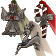 Gloria Duchin Legends of Christmas Ornaments, Set of 6