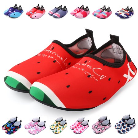 1ad20c8a24b7 Bridawn Kids Water Shoes Barefoot Shoes Toddler Swim Shoes Quick Dry Non- Slip Barefoot Aqua Socks for Beach Pool