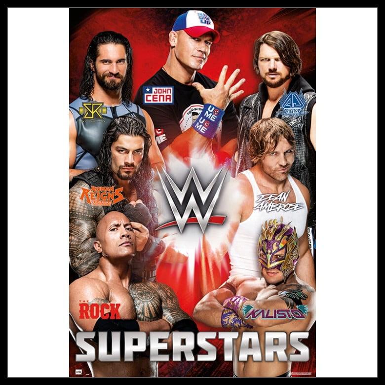 Wwe Superstars Poster Poster Print