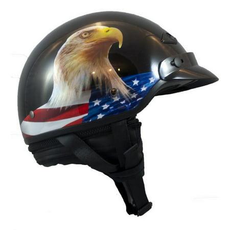 LS2 Bagger Murica Half Motorcycle Helmet Black