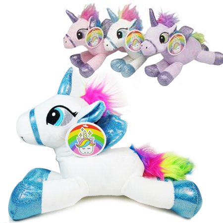 Cozy Unicorn Plush Pillow Stuffed Animal Bedtime Toy Cute Soft Kids Squeeze Gift (Stuffed Unicorns)