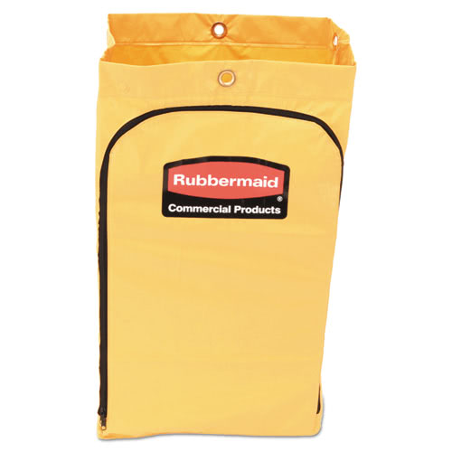 Rubbermaid 1966719 Zippered Vinyl Cleaning Cart Bag, Yellow (RCP1966719)